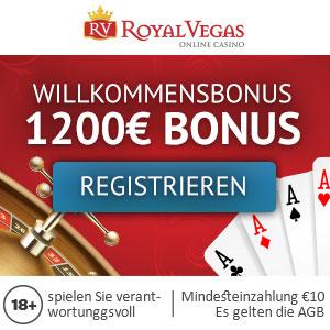 Royal Vegas Casino Deutschland 1200 Euro Willkommensbonus Klicken Sie hier um sich zu registrieren